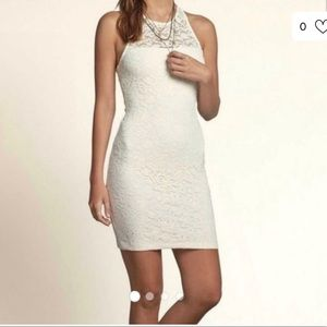 Hollister Highneck lace Mini Dress Fitted Sz:Small